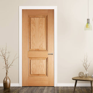 Image: arnhem 2 panel oak door prefinished
