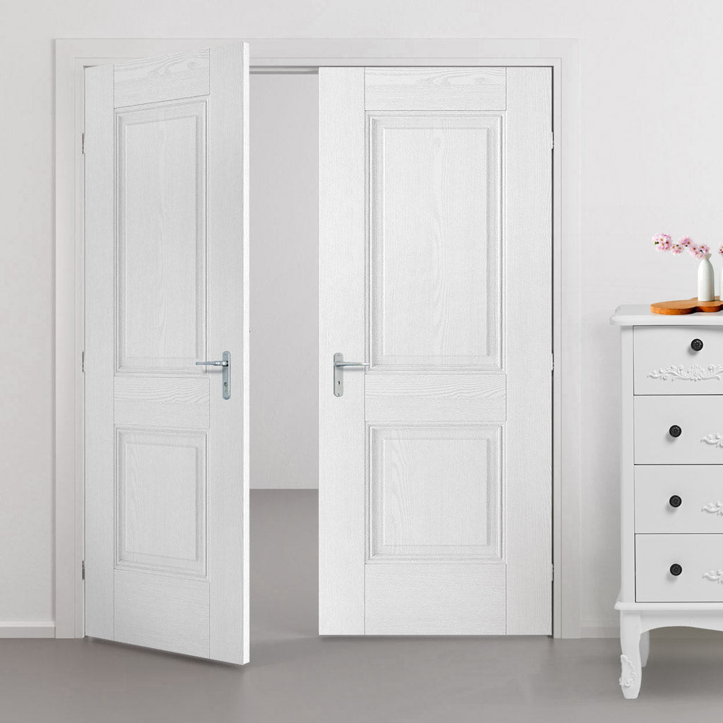 Arnhem Grained Panel Door - White Primed