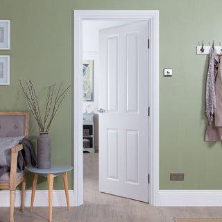 Image: JELD-WEN Internal Atherton Smooth Door - White - Moulded Range