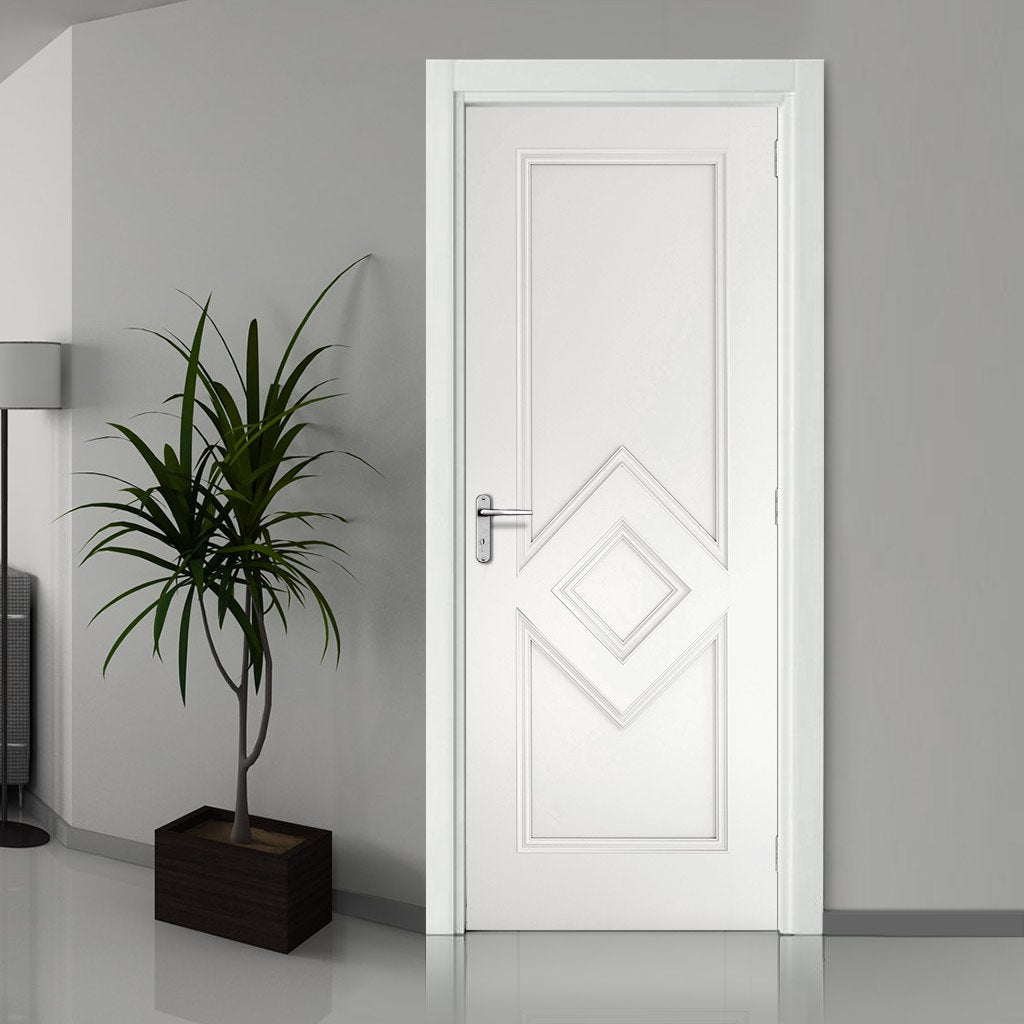 Ascot White Primed Fire Door - 1/2 Hour Fire Rated