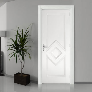 Image: Deanta Ascot White Primed Door, 1/2 Hour Fire Rated