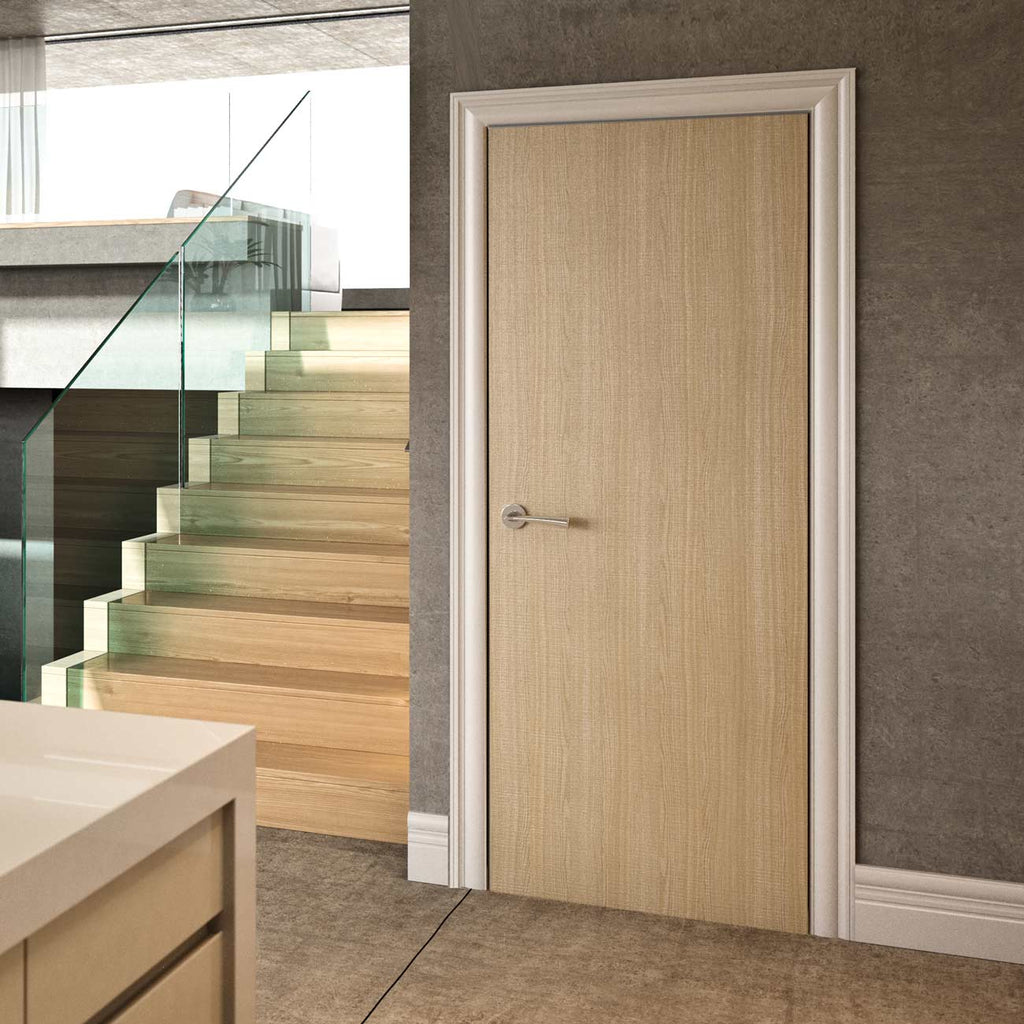 Bespoke Fire Door - Flush American Ash Veneer - 30 Minute Fire Rated - Prefinished