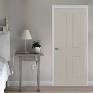 Image: JELD-WEN True Colour Smooth Atherton Painted Interior Door - Sage Grey - Prefinished
