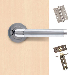 Image: Augustus Premium Handle Pack - Satin Chrome/Polished Chrome