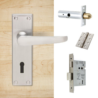 Image: External M30 Victorian Suite Lever Back Door Handle Pack - Chrome Finish