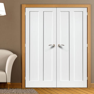 Image: J B Kind Barbados White Primed Door Pair