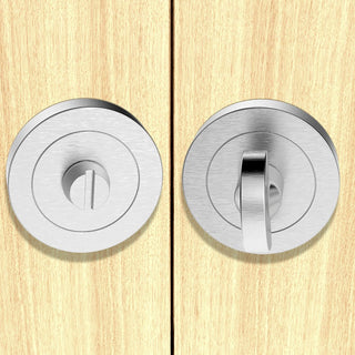 Image: European AA12 Bathroom Thumb Turn & Release - 3 Finishes