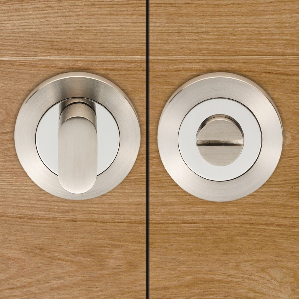 Steelworx SWT1016 Bathroom Thumb Turn & Release - 3 Finishes