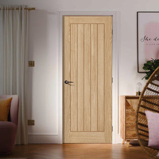Image: FD60 Fire Door, Belize Oak Door - 60 Minute Fire Rated - Prefinished