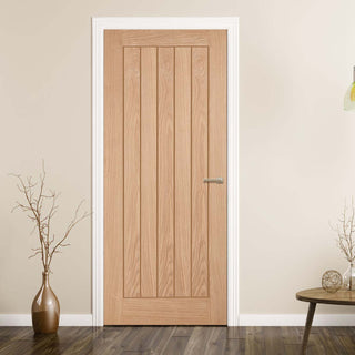Image: FD30 Fire Door, Belize Oak Door - 30 Minute Fire Rated - Prefinished