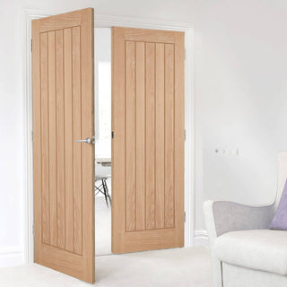 Image: Belize Oak Door Pair - Prefinished