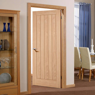 Image: Fire Door, Belize Oak - 1/2 hour Fire Rated