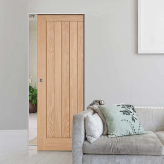 Image: Belize Oak Absolute Evokit Single Pocket Doors