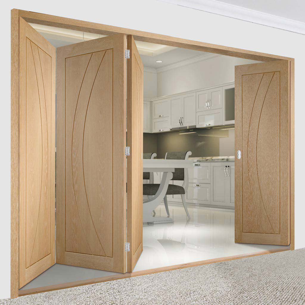 Bespoke Thrufold Salerno Oak Flush Folding 3+1 Door