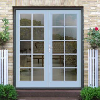 Image: Made to Order Exterior 10 Pane Door Pair - Fit Your Own Glass