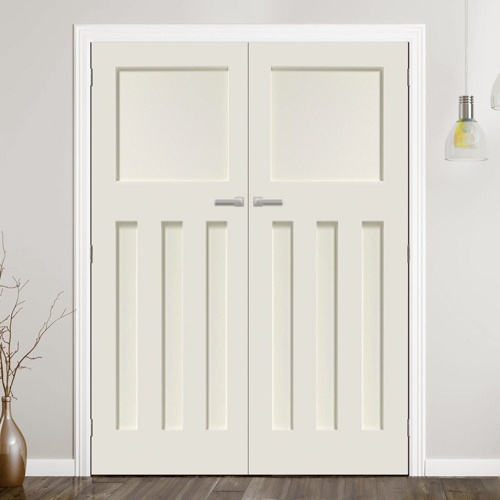 Prefinished Bespoke DX 1930's Panel Door Pair - Choose Your Colour