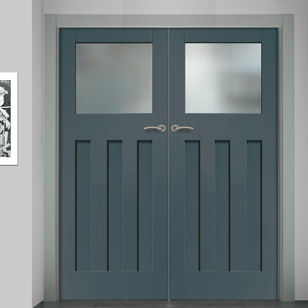 Prefinished Bespoke DX 1930's Glazed Door Pair - Choose Your Colour