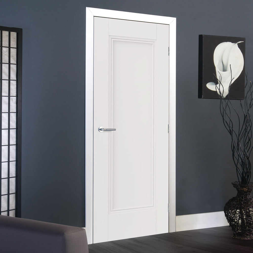 J B Kind White Classic Belton Panel Primed Door