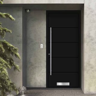 Image: External Spitfire Aluminium S-200 Door - 1654 CNC Grooves Solid - 7 Colour Options