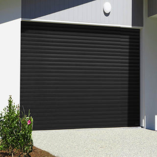 Image: Gliderol Electric Insulated Roller Garage Door from 1900 to 2134mm Wide - Black