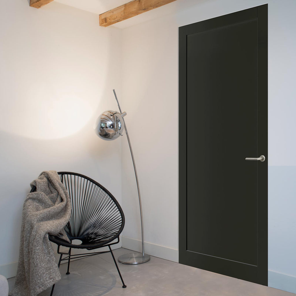 Bespoke industrial style panelled interior door