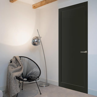 Image: Bespoke industrial style panelled interior door