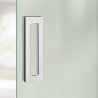 Image: Flush Pull Handles 110x60mm Stainless Steel Look - Surface Fix For Full Pane Glass Doors