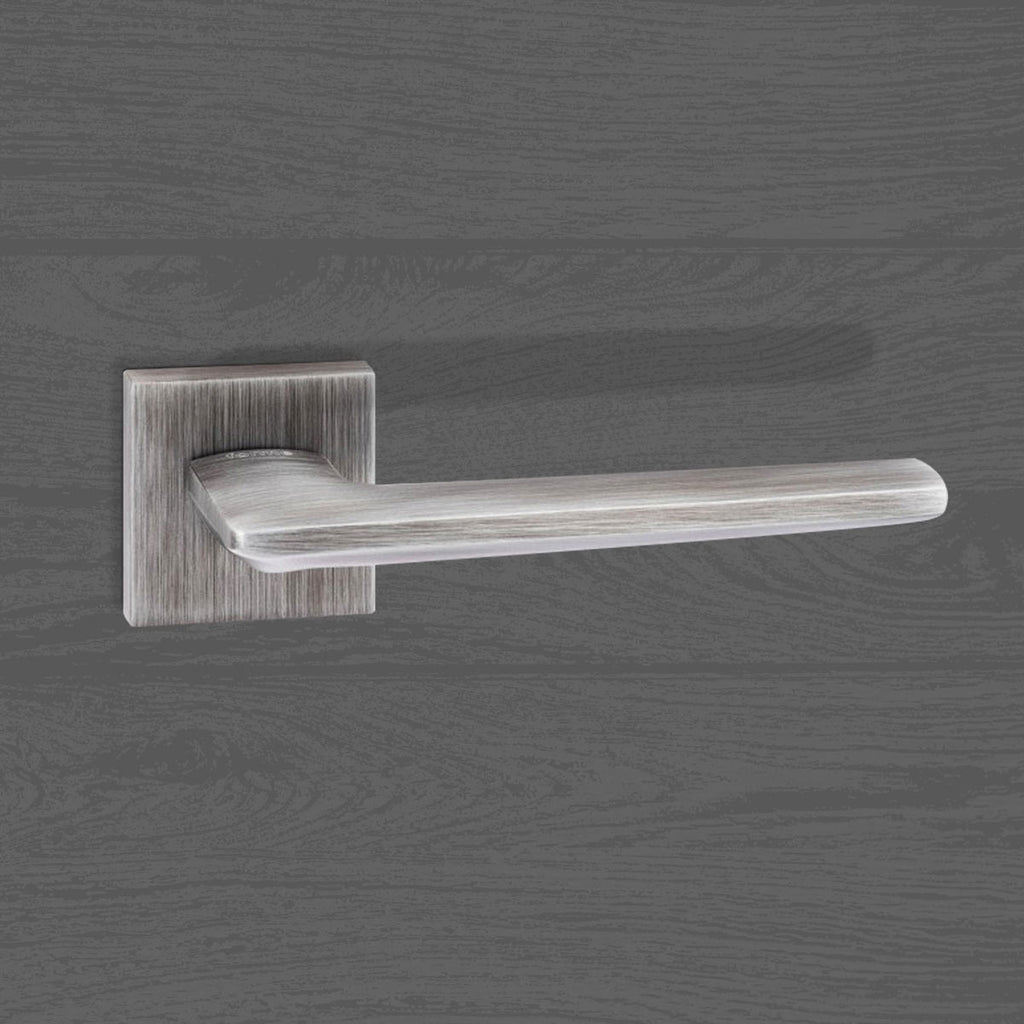 Forme Boston Designer Lever on Minimal Square Rose - Urban Graphite