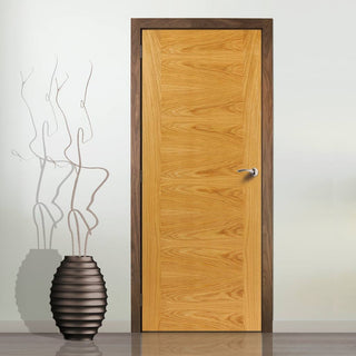 Image: J B Kind Oak Contemporary Ostria Flush Fire Door - 30 Minute Fire Rated - Prefinished