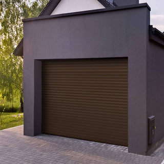 Image: Gliderol Electric Insulated Roller Garage Door from 1900 to 2134mm Wide - Brown