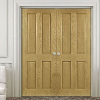 Image: Bury Real American White Oak Crown Cut Veneer Door Pair - Prefinished