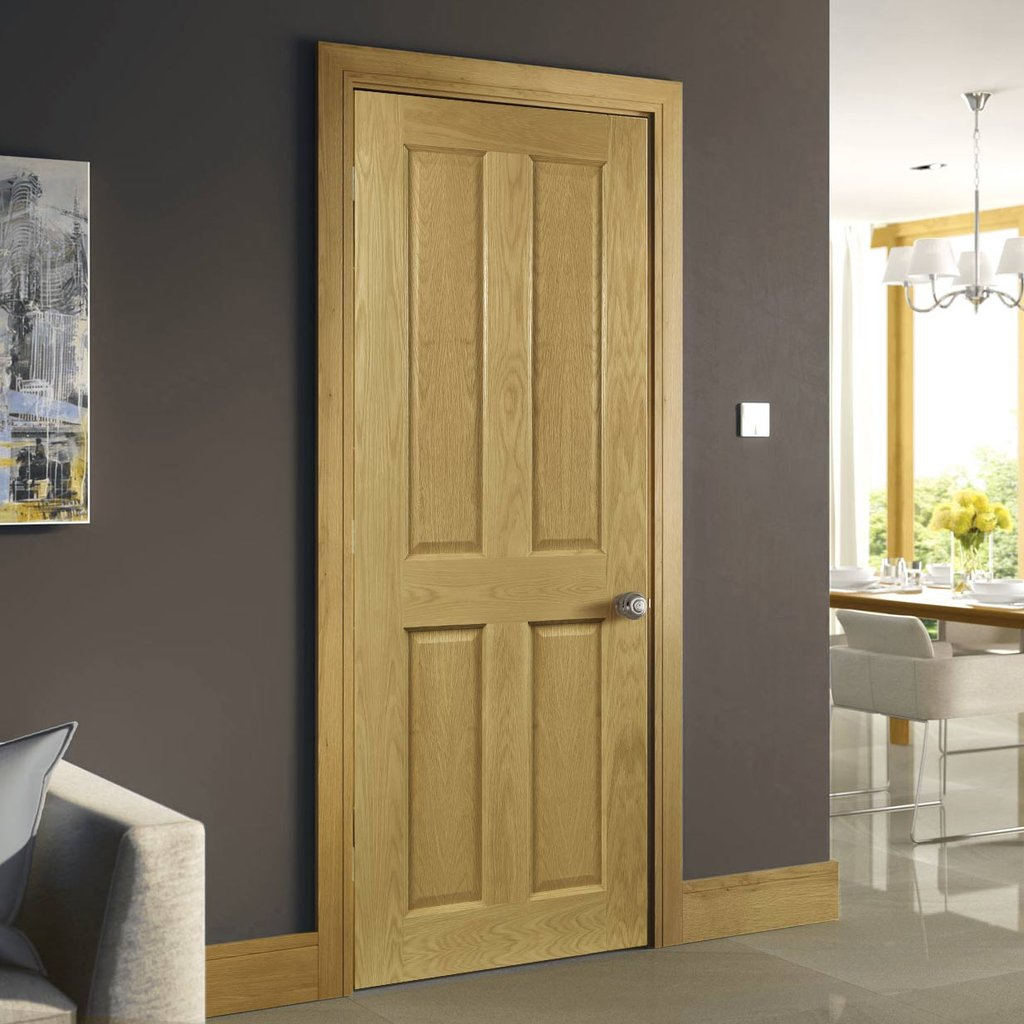 Bury Real American White Oak Crown Cut Veneer Fire Door - Prefinished - 1/2 Hour Fire Rated