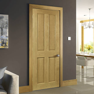 Image: Bury Real American White Oak Crown Cut Veneer Fire Door - Prefinished - 1/2 Hour Fire Rated