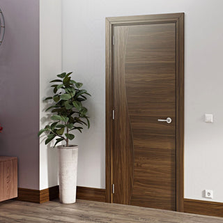 Image: Contemporary Design Cadiz Prefinished Walnut Door from Deanta UK