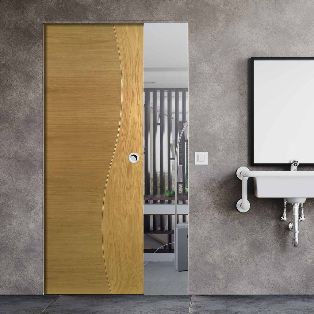 Cadiz Oak Absolute Evokit Single Pocket Door - Prefinished