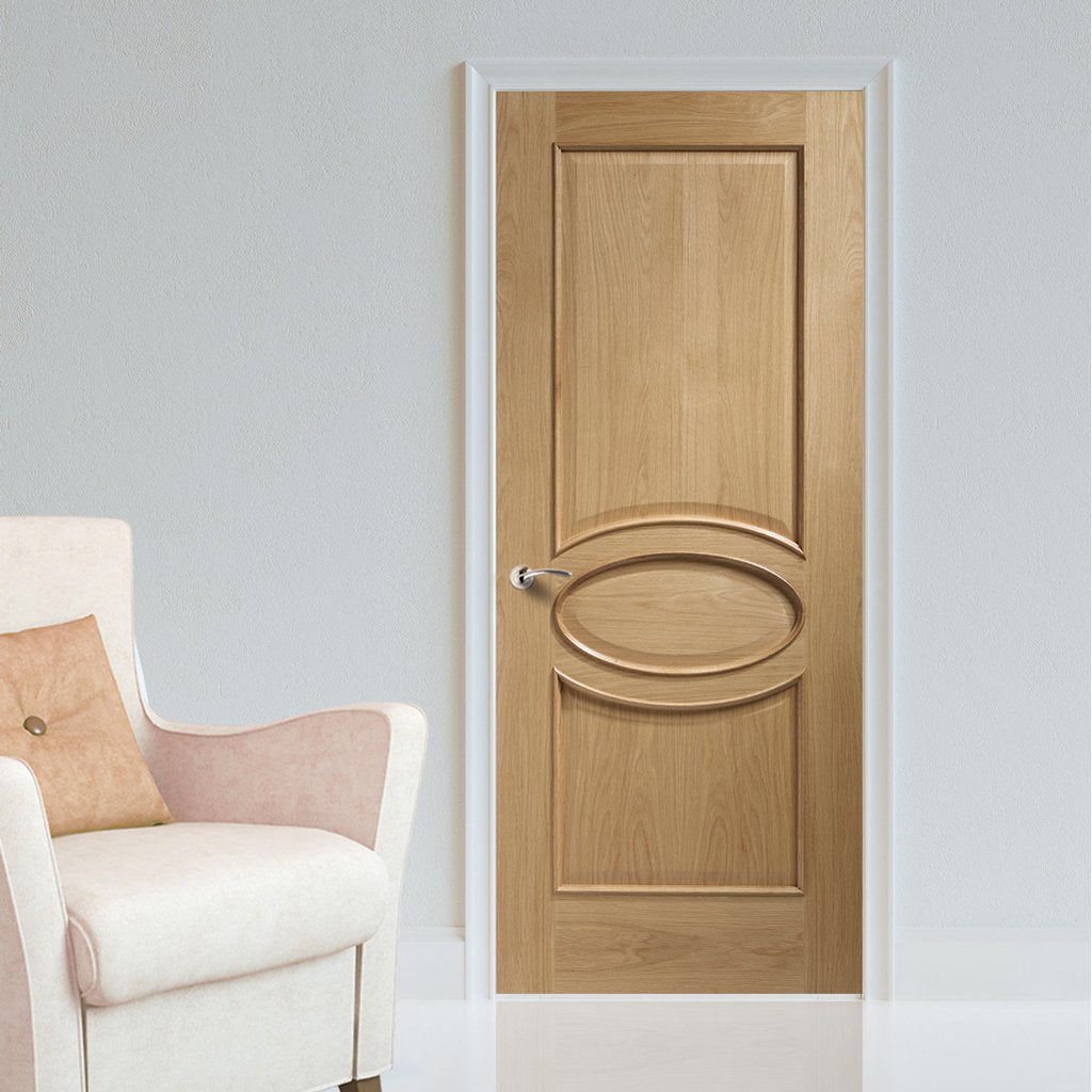 Bespoke oak veneer interior door