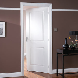 Image: JELD-WEN Internal Cambridge Smooth Door - White - Moulded Range