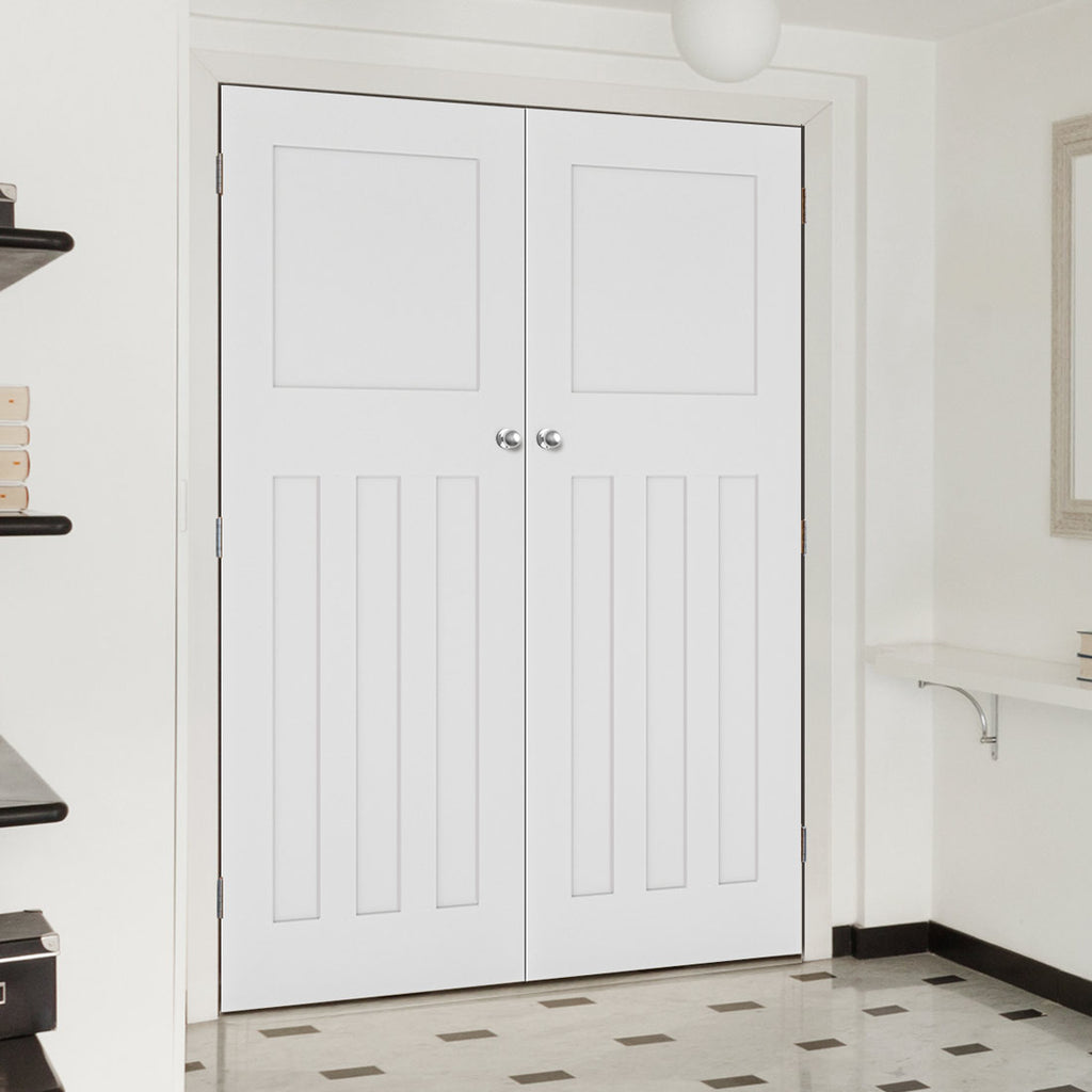 Cambridge White Primed Period Door Pair