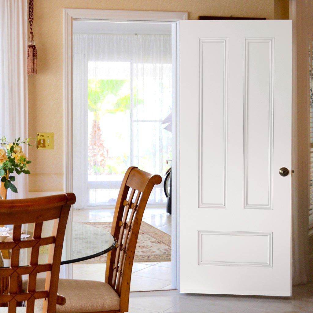 Canterbury White Primed Fire Door - 1/2 Hour Fire Rated