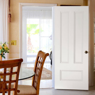 Image: Canterbury White Primed Fire Door - 1/2 Hour Fire Rated