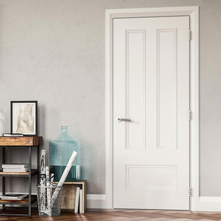 Image: Deanta Canterbury White Primed Panel Door