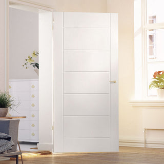 Image: Carolina Lightly Grained PVC Panel Door