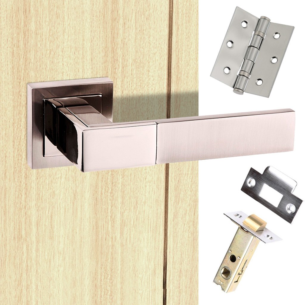Senza Pari Casalli Lever on Square Rose - Satin Nickel Handle Pack