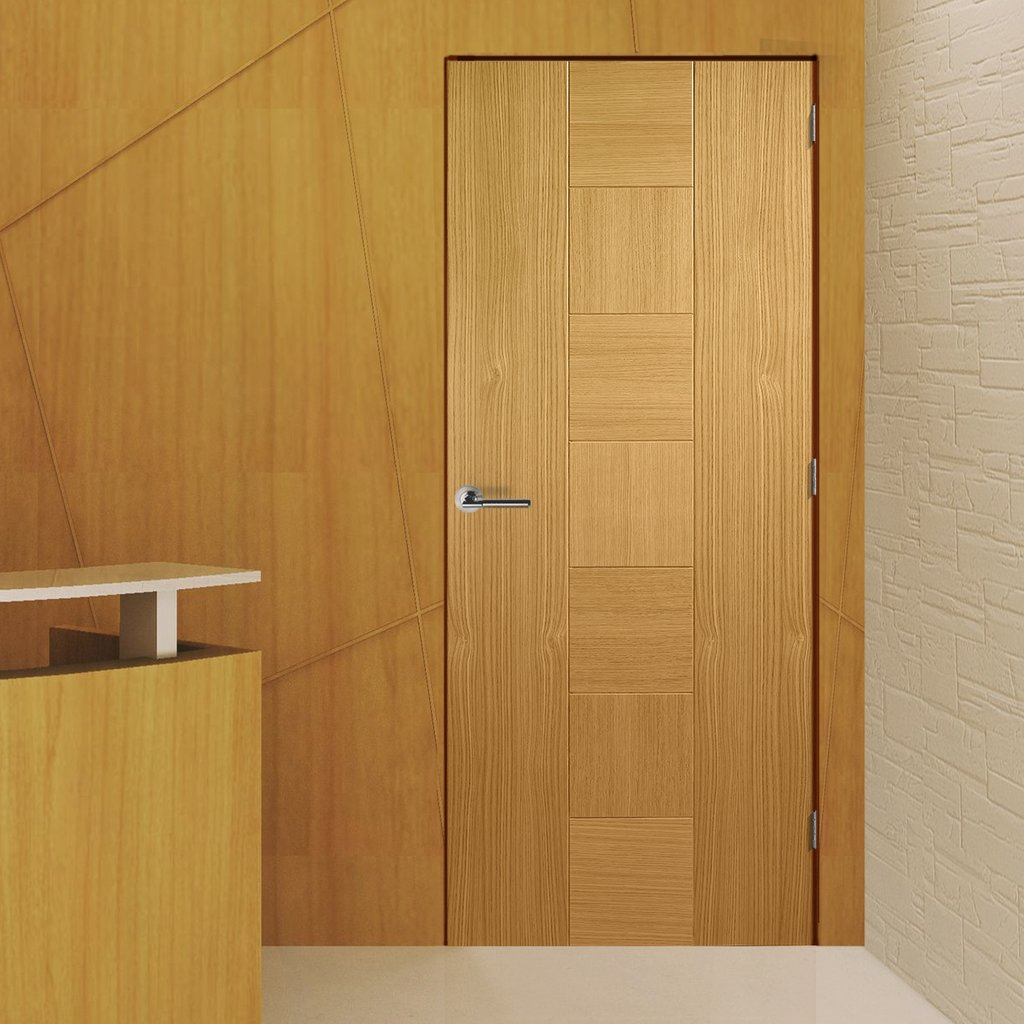Bespoke Catalonia Oak Fire Door - 1/2 Hour Fire Rated - Prefinished