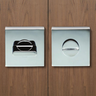 Image: European Cebi CEB004Q Bathroom Thumb Turn & Release - 2 Finishes