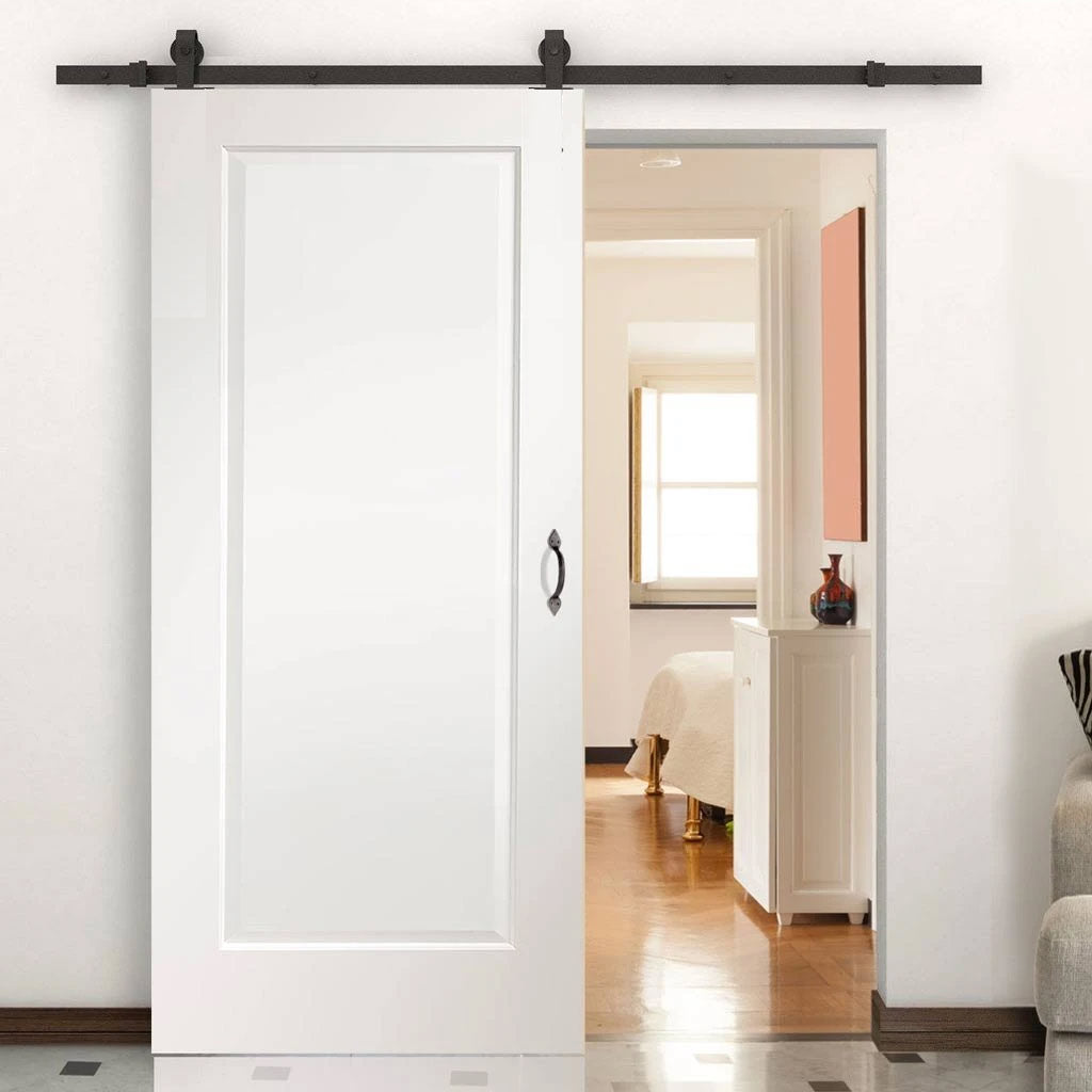 Top Mounted Sliding Track & Door - Cesena White 1 Panel Door - Prefinished