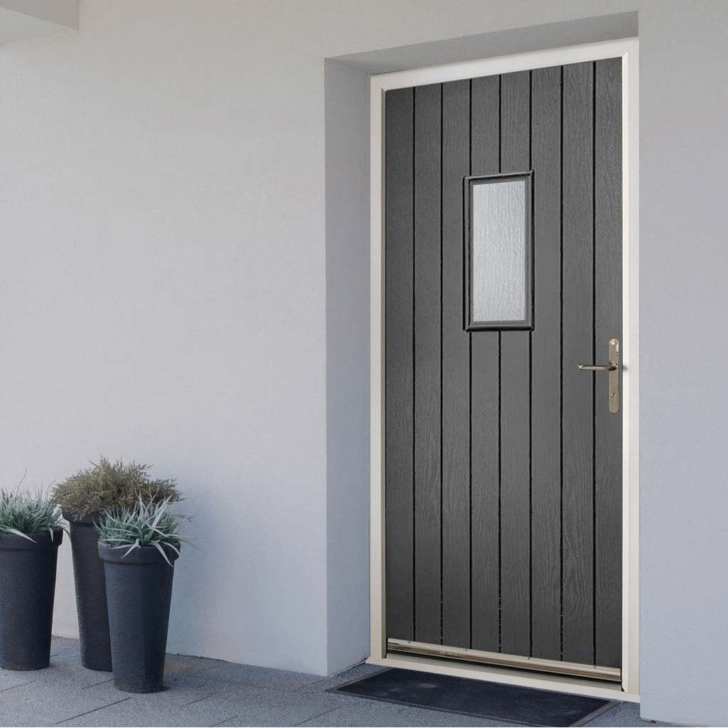 Chancery Composite Door - Stippolyte Obscure Glass