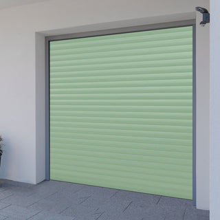 Image: Gliderol Electric Insulated Roller Garage Door from 1900 to 2134mm Wide - Chartwell Green