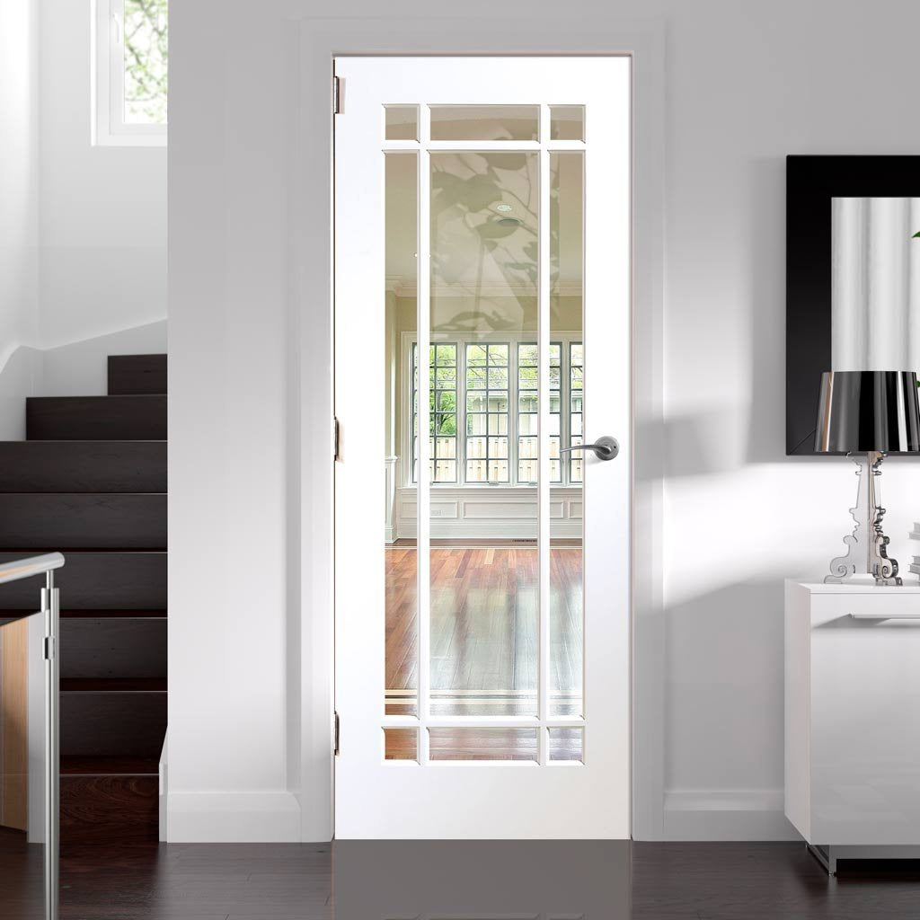 Cheshire White Door Clear Glass Prefinished