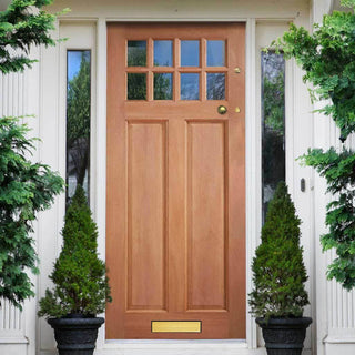 Image: Chigwell Hardwood Door - Clear Toughened Double Glazing